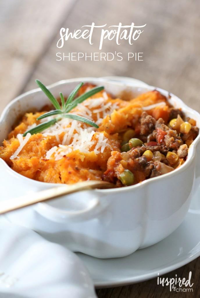 Sweet Potato Shepherds Pie | inspiredbycharm.com