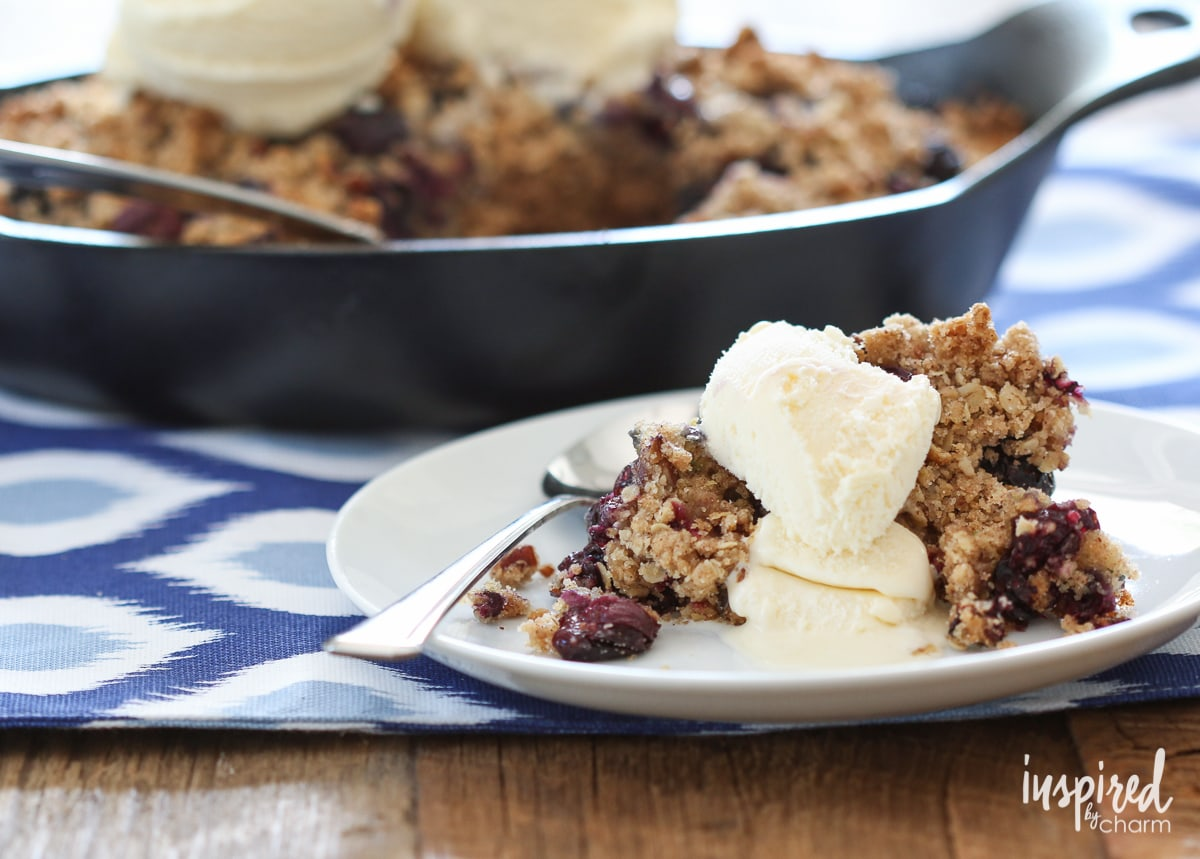 Zucchini Bread Blueberry Crisp | inspiredbycharm.com