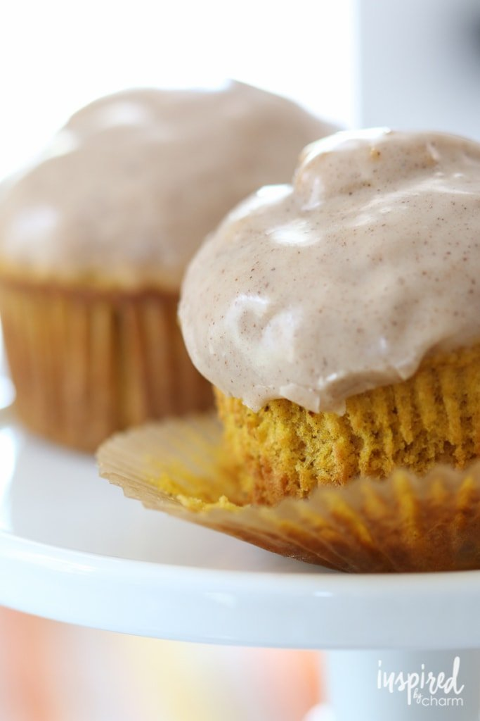 Glazed Pumpkin Doughnut Muffins | Inspired by Charm