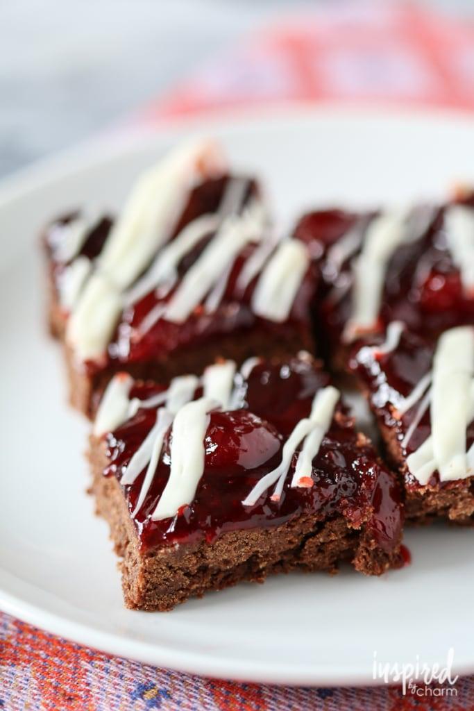 Chocolate Cherry Cookie Bars   inspiredbycharm.com #IBCfallcookieweek