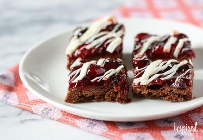 Chocolate Cherry Cookie Bars | inspiredbycharm.com #IBCfallcookieweek