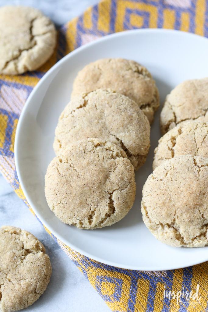 Chai Spiced Snickerdoodles | inspiredbycharm.com #IBCfallcookieweek