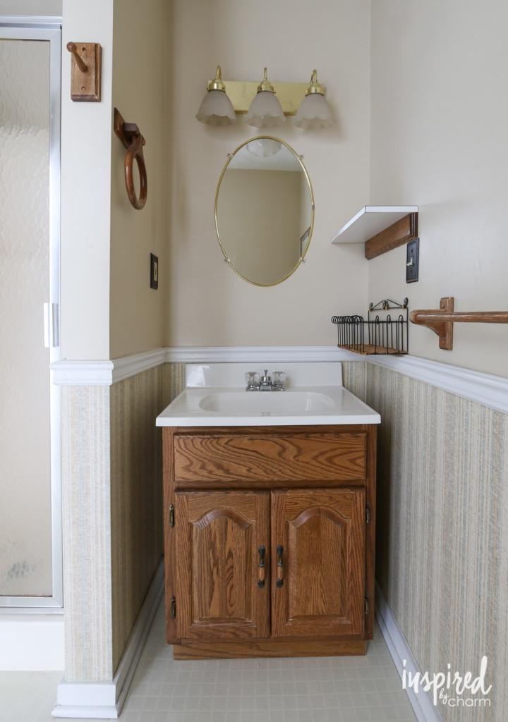 Bathroom #2 Before | inspiredbycharm.com
