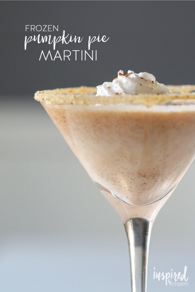 Frozen Pumpkin Pie Martini | inspiredbycharm.com