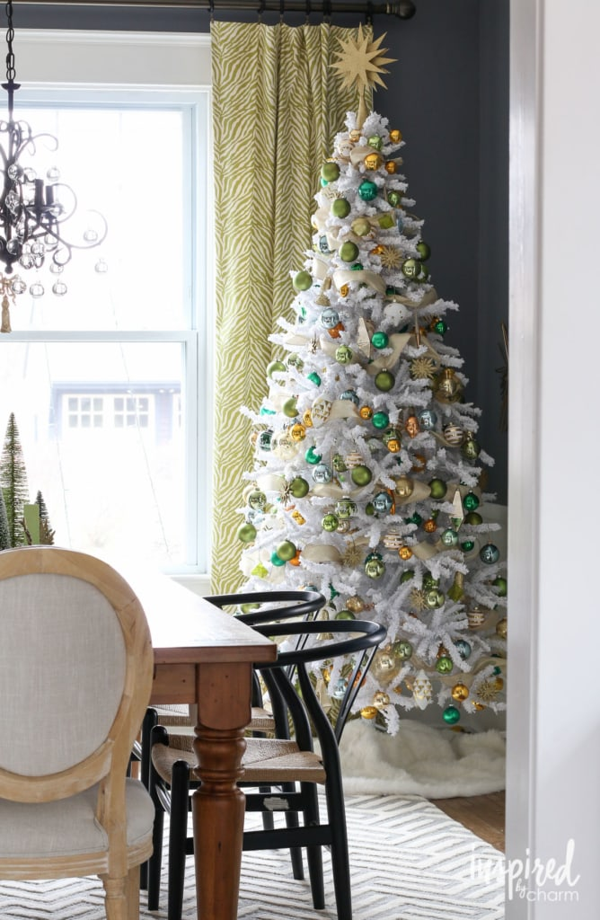 Gold and Green Tree | inspiredbycharm.com #IBCholiday