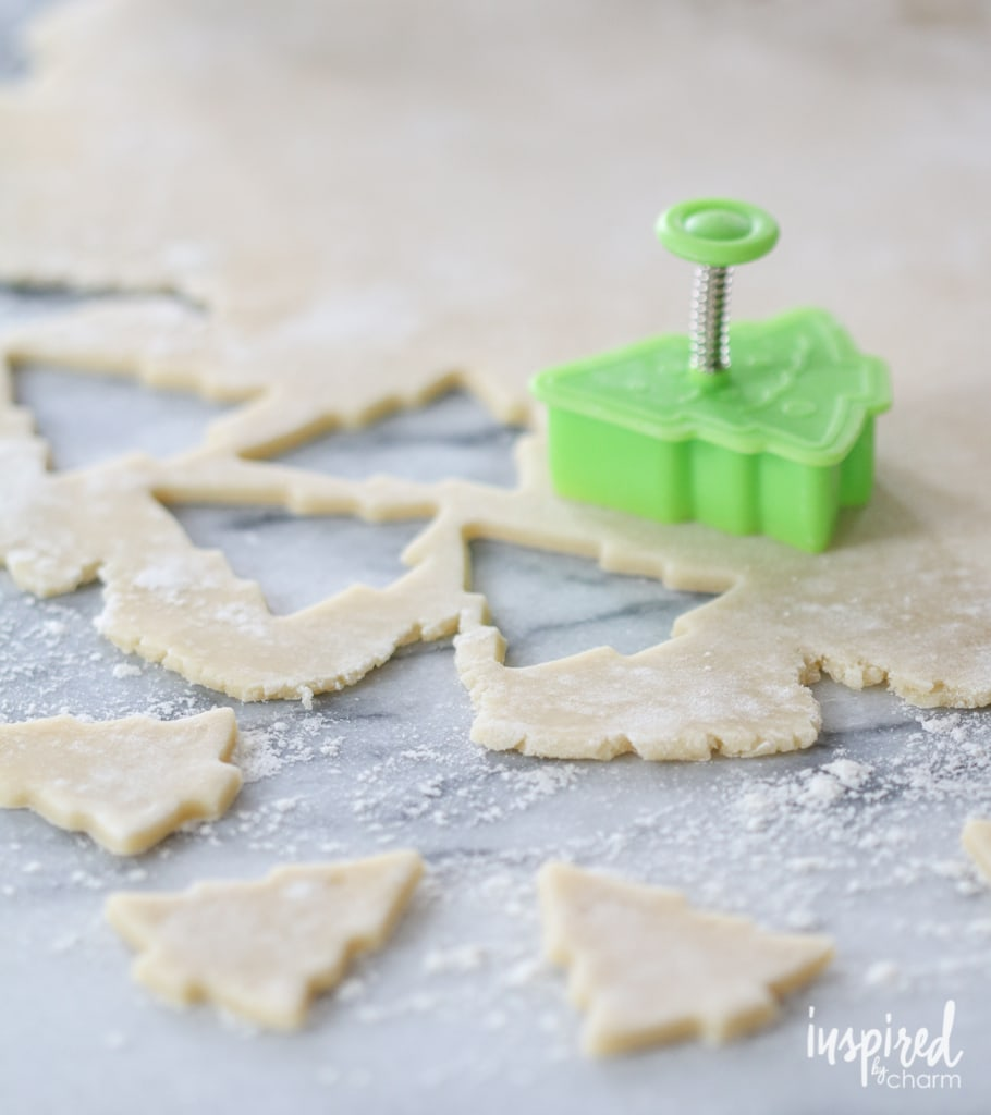 Cream Wafer Tree Cookies | inspiredbycharm.com #IBCholiday