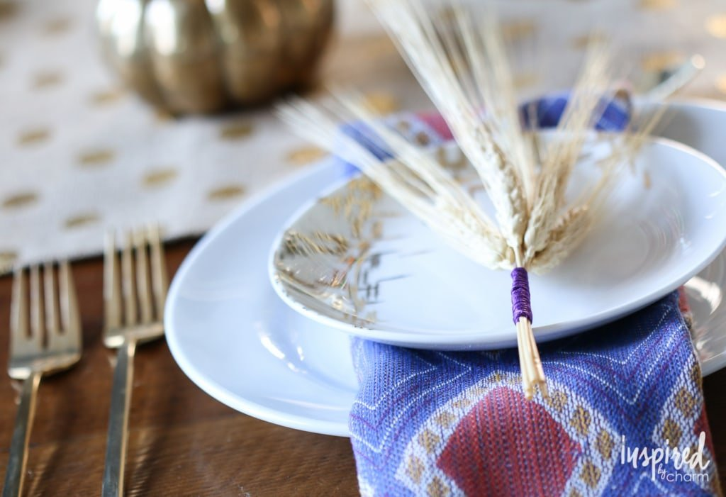 DIY Color Wrapped Wheat | inspiredbycharm.com