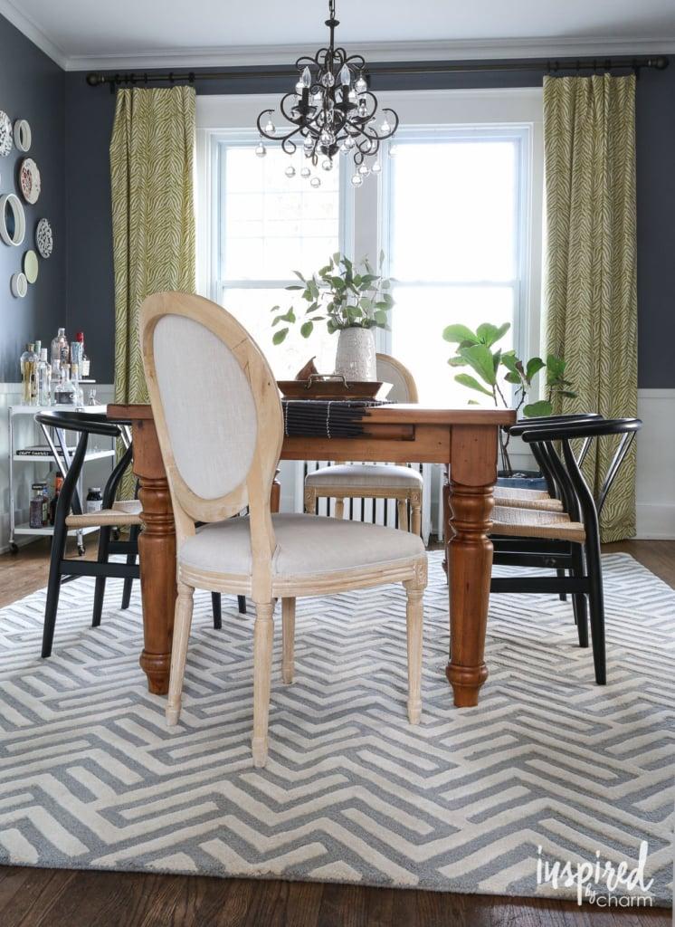 Dining Room Rug | inspiredbycharm.com