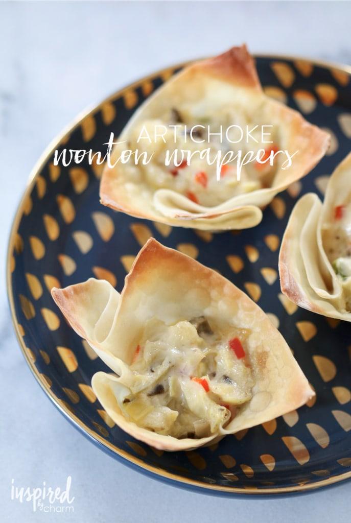 Artichoke Wonton Wrappers | inspiredbycharm.com