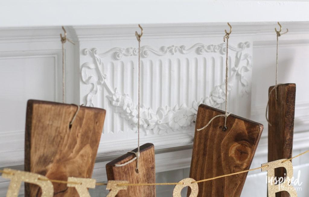 DIY Wood Stockings | inspiredbycharm.com #IBCholiday