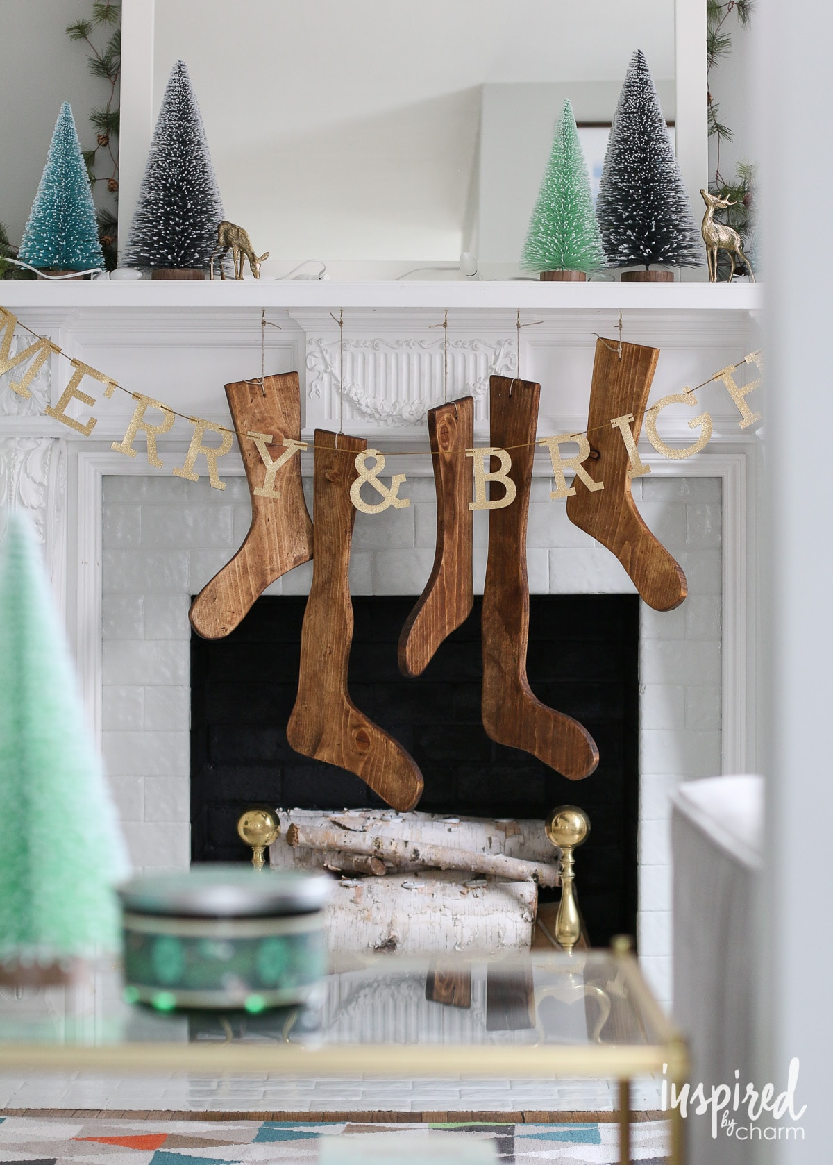 diy wood stockings