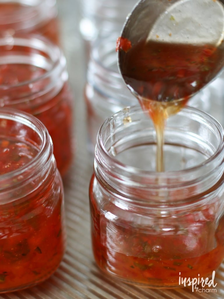 Red Pepper Jelly | inspiredbycharm.com #IBCholiday