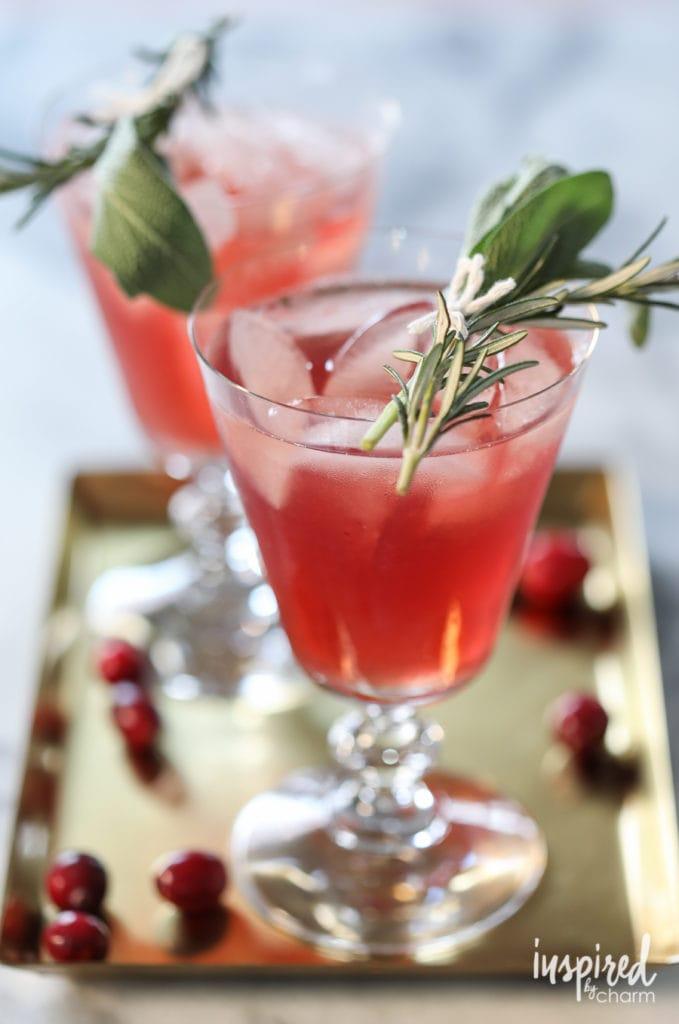 Cranberry Bourbon Cocktail recipe - holiday Christmas cocktail recipe ideas