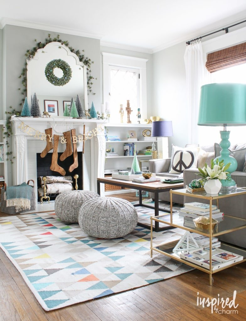 Home Tours Adorable Holiday Home Tour 2015  Inspiredcharm Design Inspiration