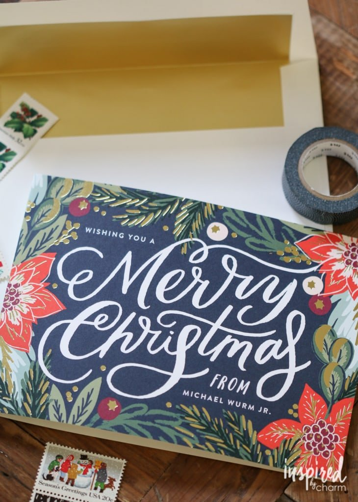 Cherry Christmas Card | inspiredbycharm.com #IBCholiday
