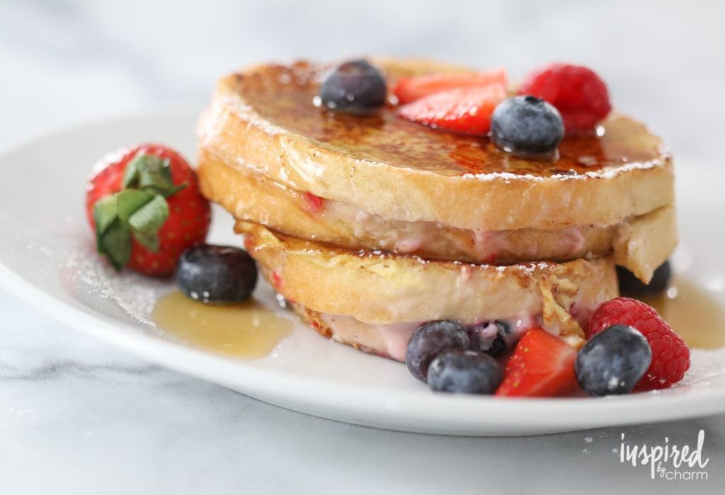 Berry Stuffed French Toast | inspiredbycharm.com #IBCbreakfastweek
