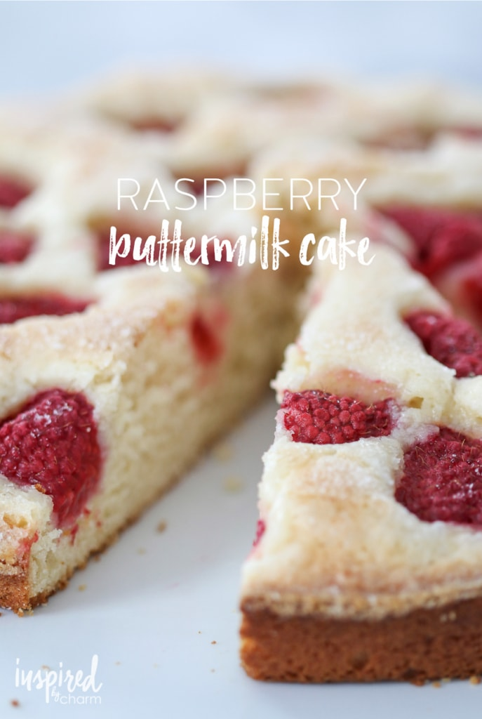 Raspberry Buttermilk Cake   inspiredbycharm.com #IBCbreakfastweek