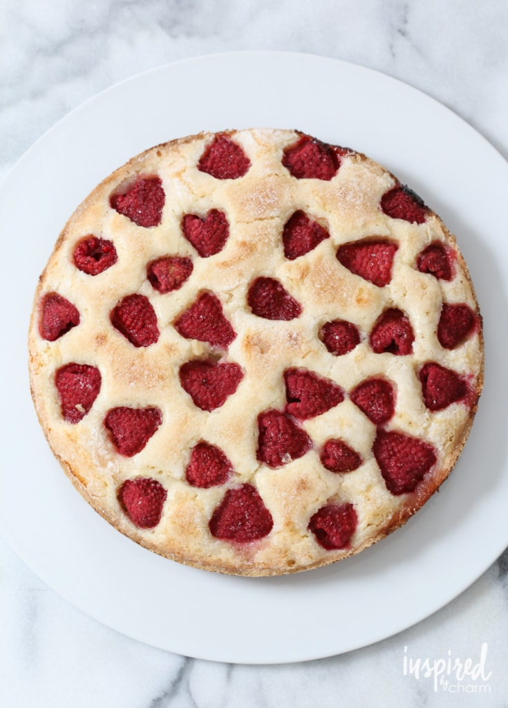 Raspberry Buttermilk Cake | inspiredbycharm.com #IBCbreakfastweek