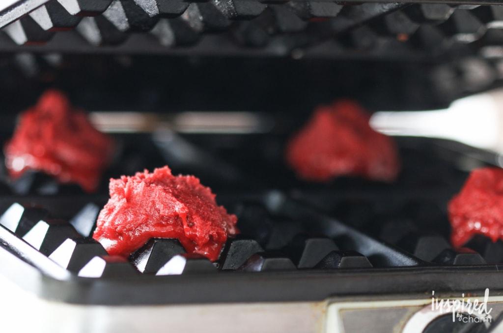 Red Velvet Waffle Cookies | inspiredbycharm.com
