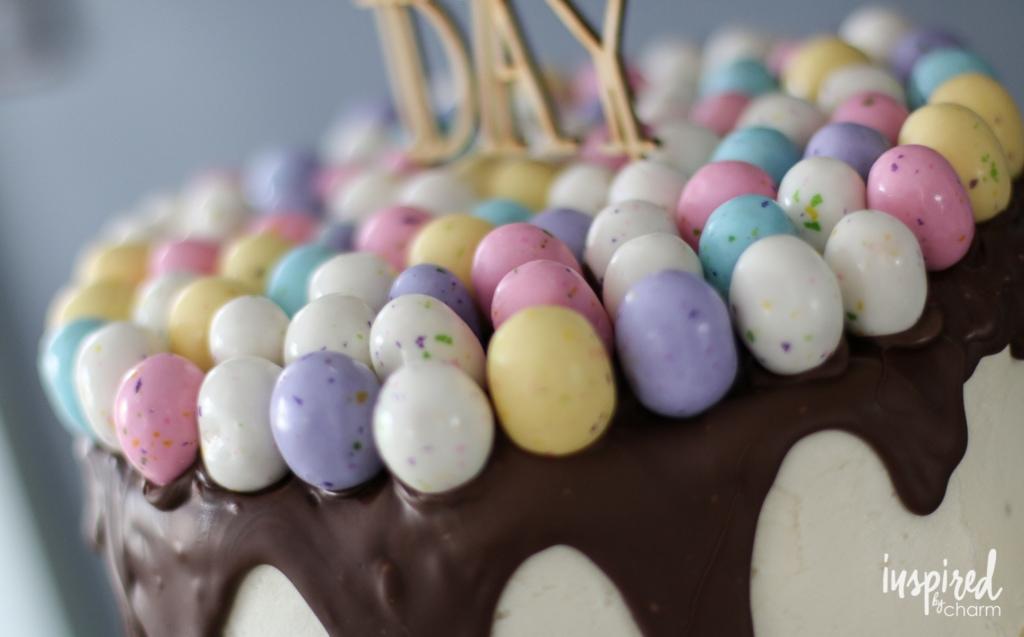 Happy Day Spring Festive Birthday Cake | inspiredbycharm.com