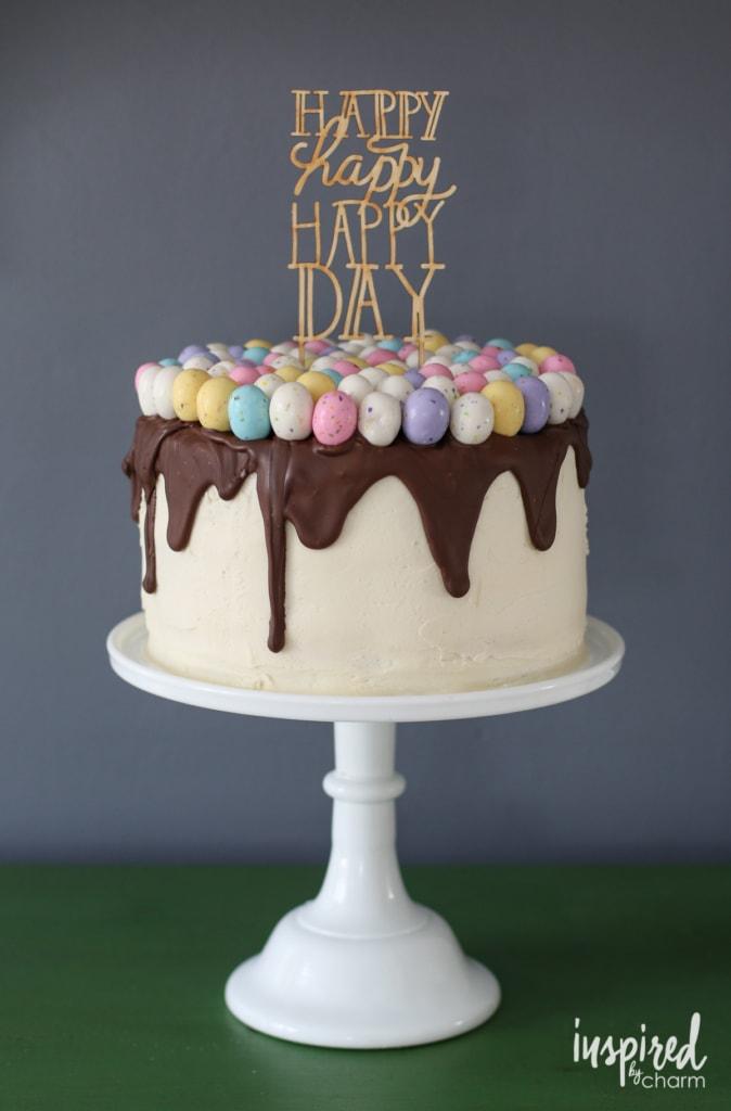 Happy Day Spring Festive Birthday Cake   inspiredbycharm.com