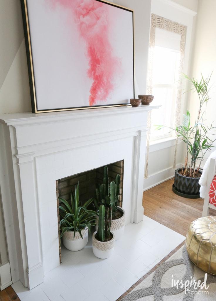 Fireplace Fix-Up | inspiredbycharm.com