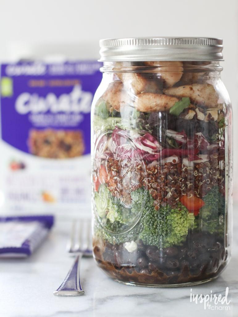 Mason Jar Salads. 3 Ways. | inspiredbycharm.com