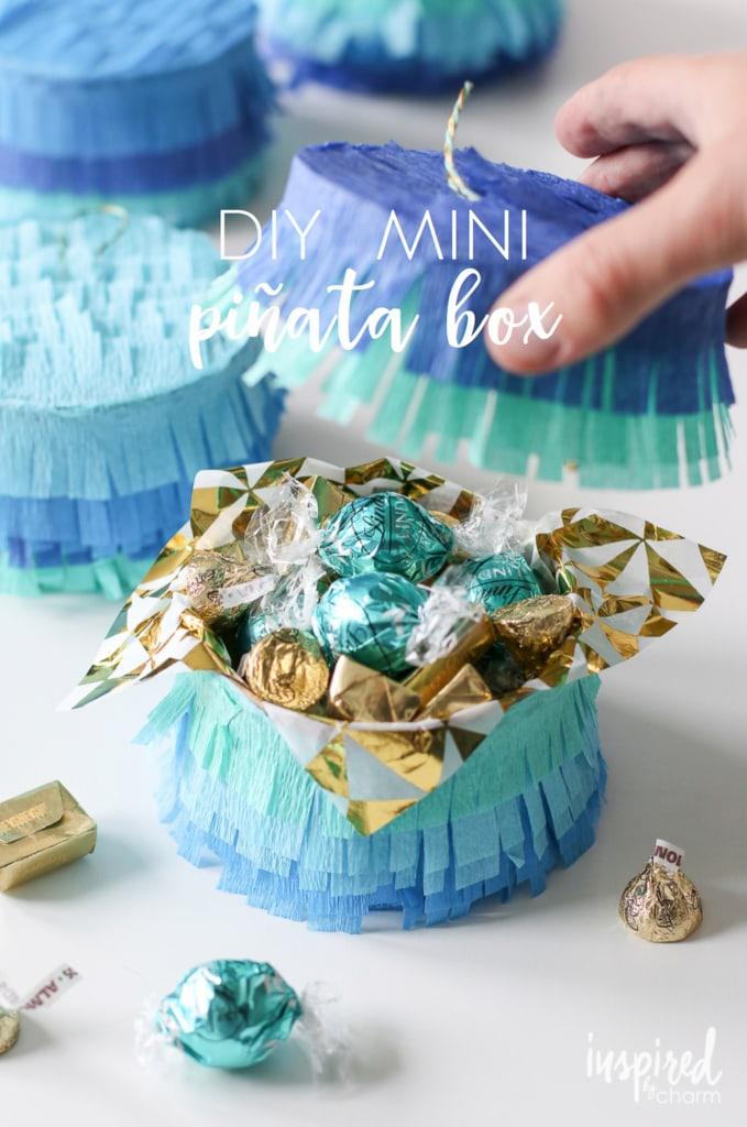 DIY Mini Piñata Box | inspiredbycharm.com #IBCcincodemayo