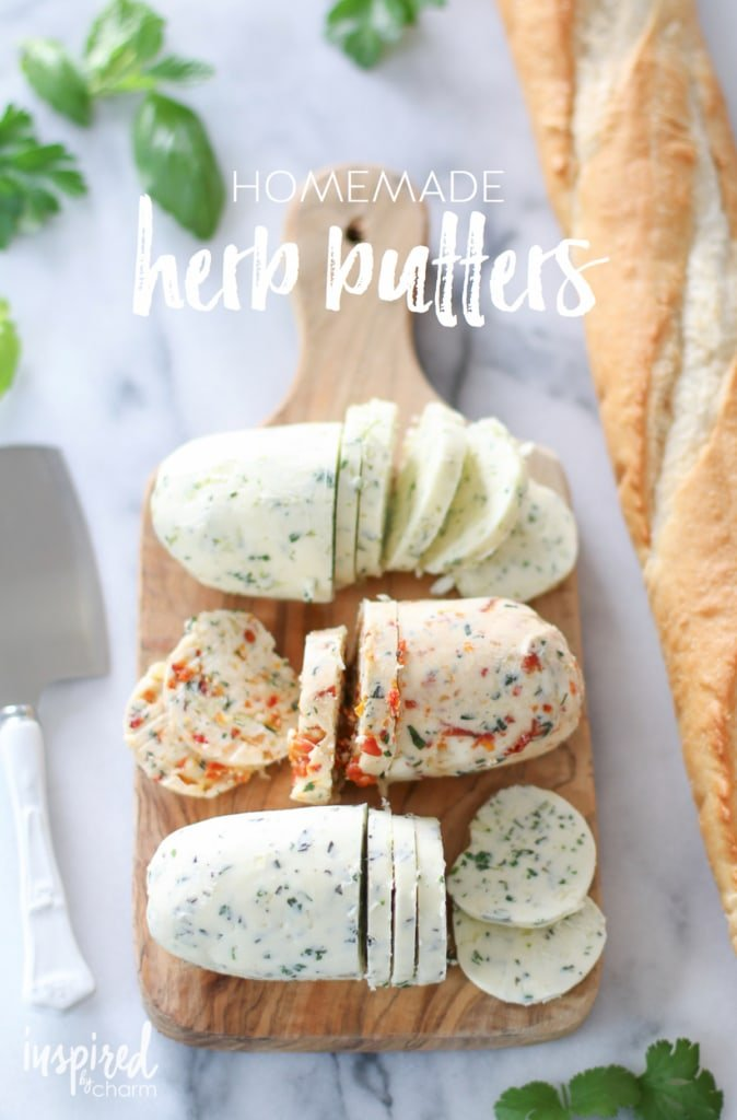 Homemade Herb Butters | inspiredbycharm.com
