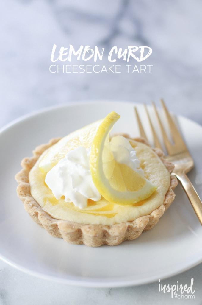 Lemon Curd Cheesecake Tart   inspiredbycharm.com