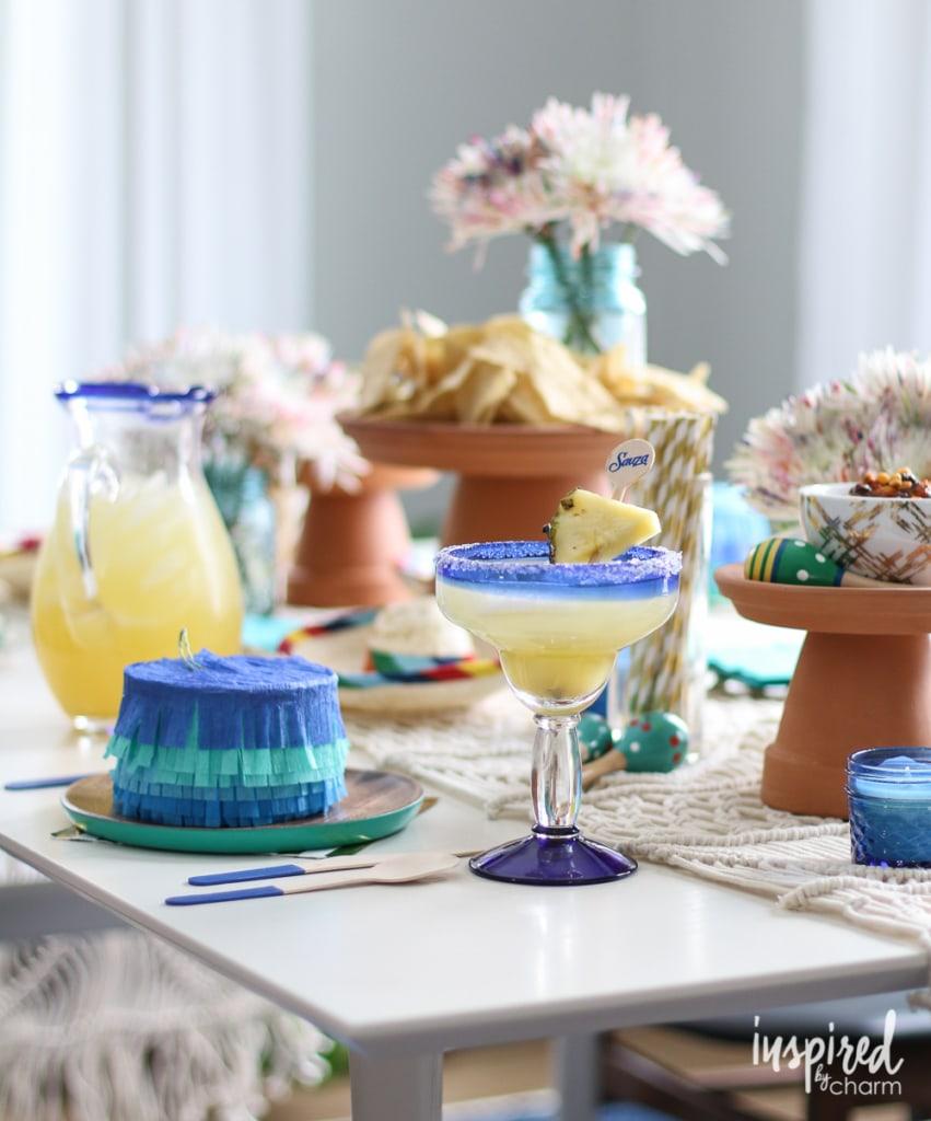 Vanilla Pineapple Margarita | inspiredbycharm.com #IBCcincodemayo