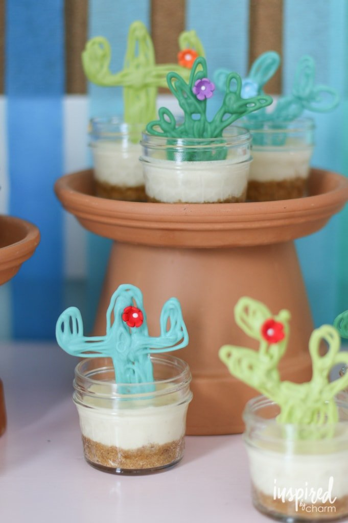 Mini Margarita Cheesecakes | inspiredbycharm.com #IBCcincodemayo