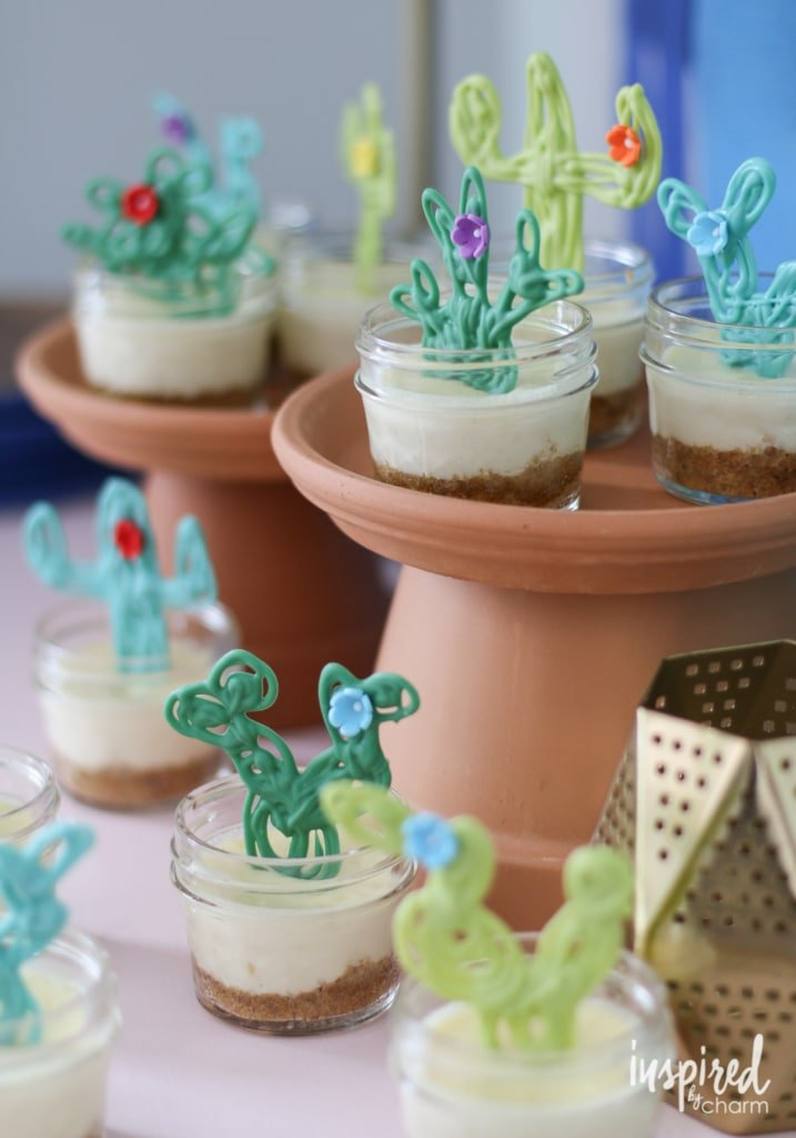 Mini Margarita Cheesecakes | inspiredbycharm.com #IBCcincodemayo