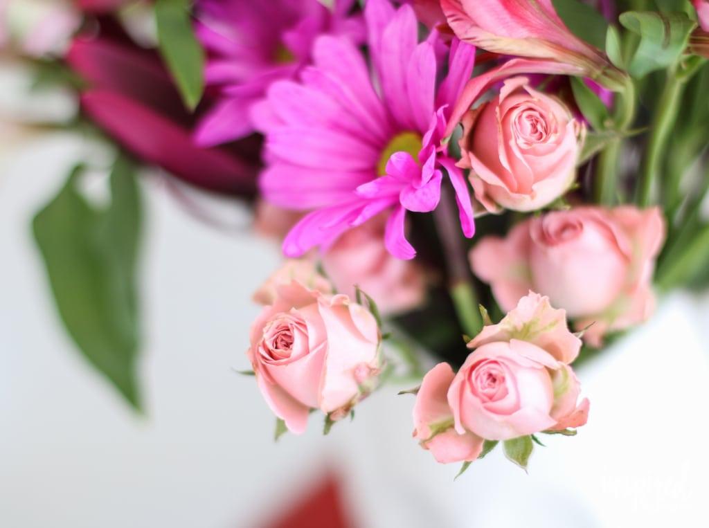 How To Arrange Grocery Store Flowers | inspiredbycharm.com