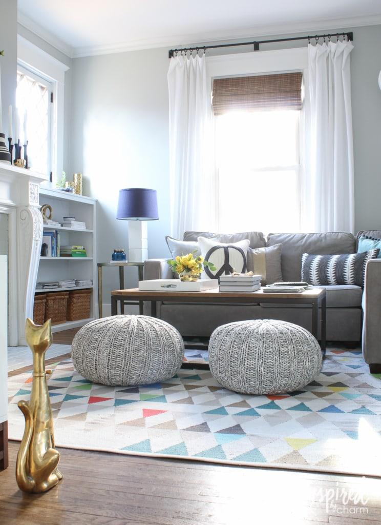 Spring Living Room   inspiredbycharm.com