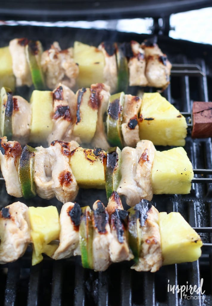 Tequila Lime Chicken Kabobs | inspiredbycharm.com #IBCcincodemayo