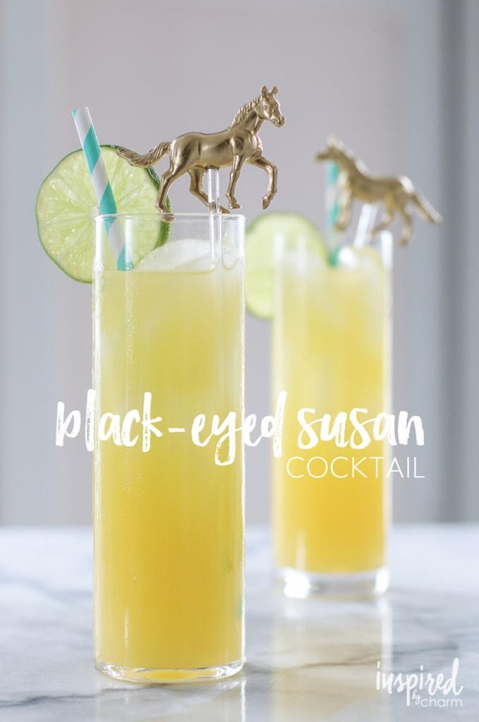 Black-Eyed Susan Cocktail | inspiredbycharm.com