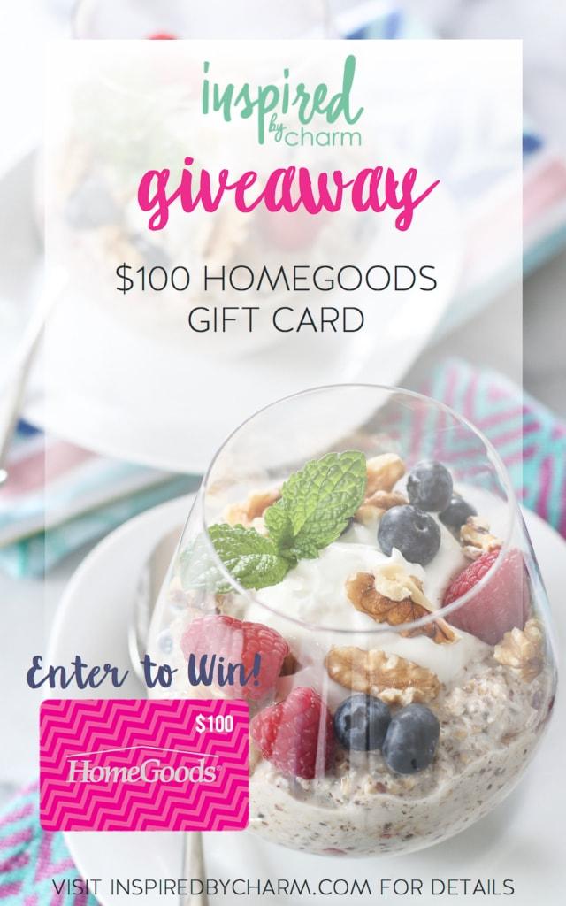 HomeGoods Gift Card Giveaway | inspiredbycharm.com