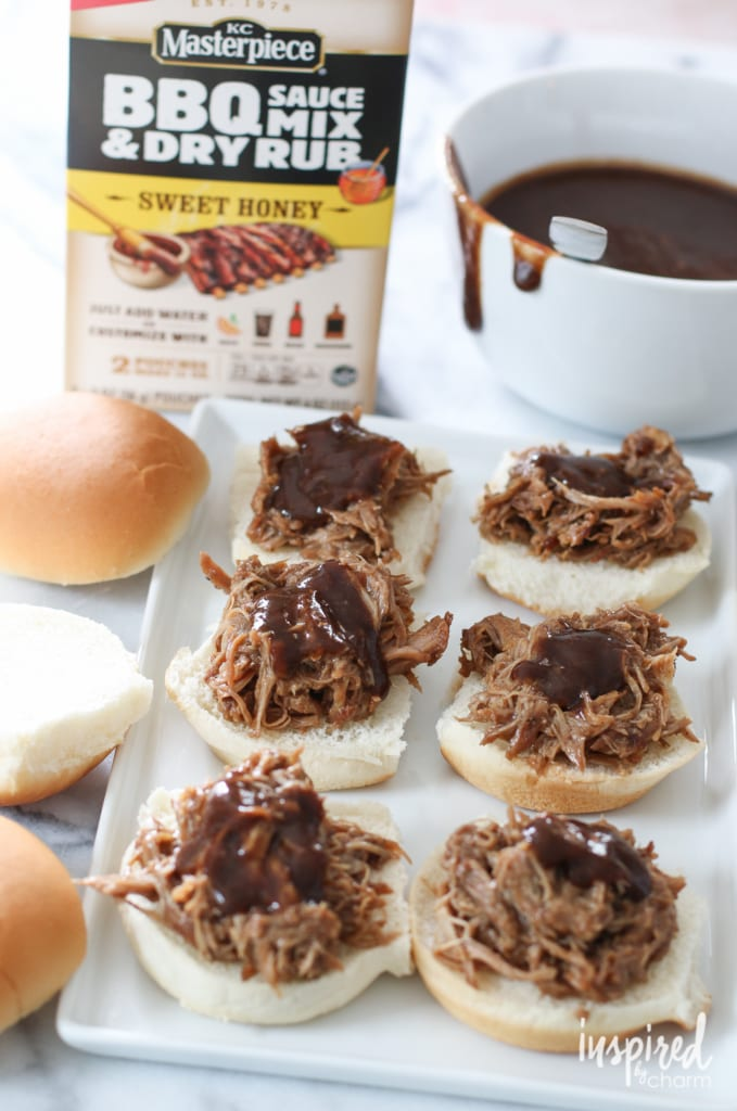 Pulled Pork Sliders | inspiredbycharm.com