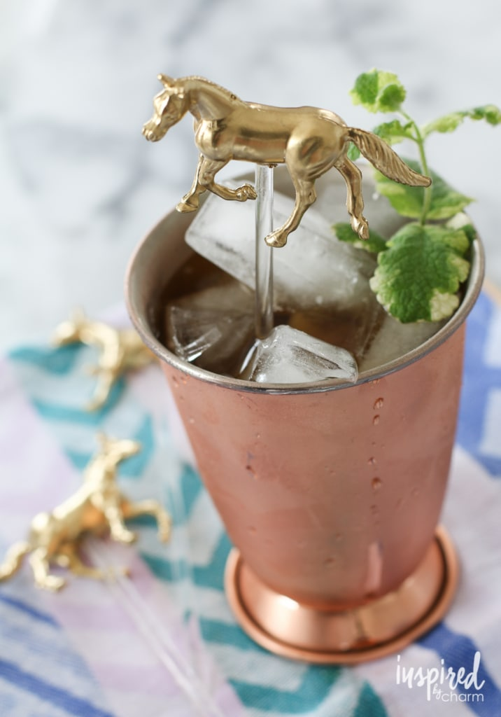 DIY Horse Drink Stirrers | inspiredbycharm.com