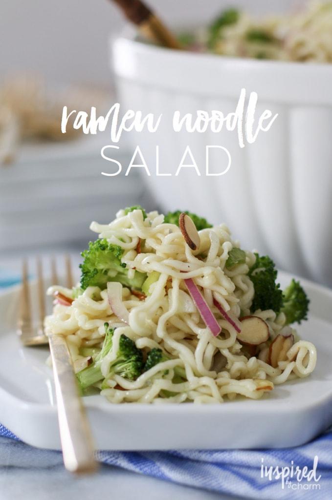 Ramen Noodle Salad | inspiredbycharm.com