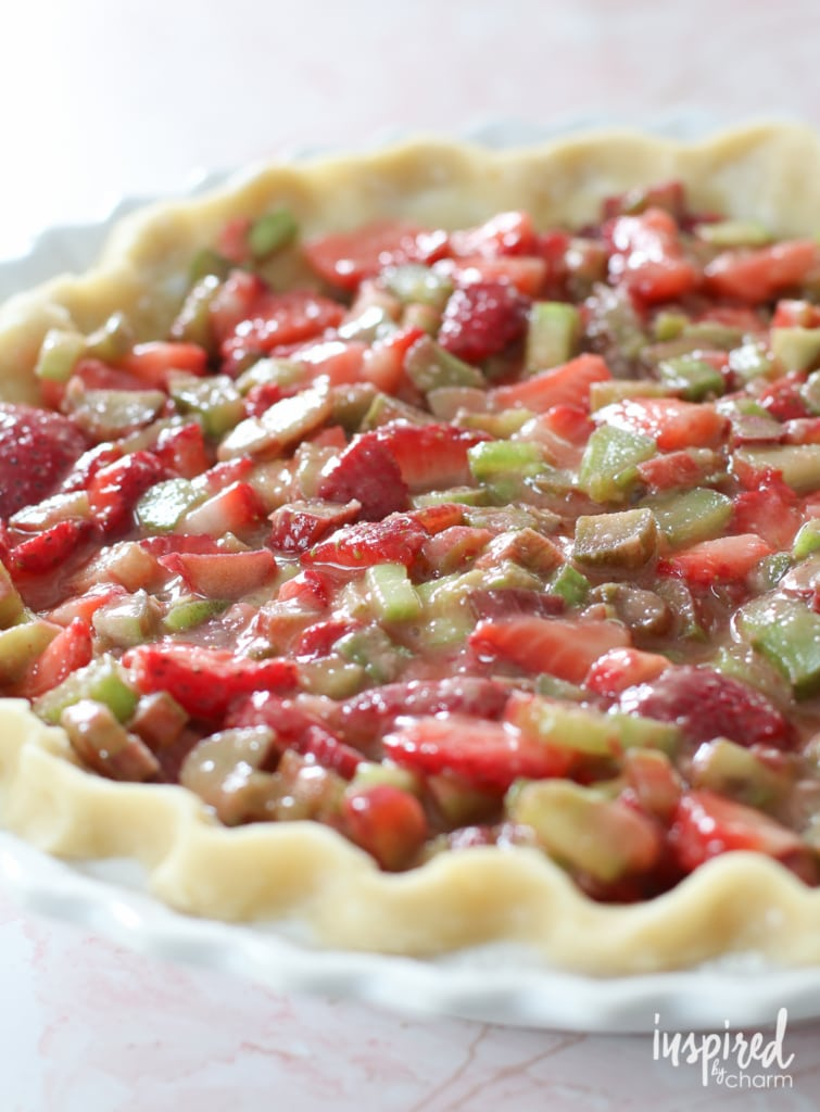 Strawberry Rhubarb Crumble Pie   inspiredbycharm.com