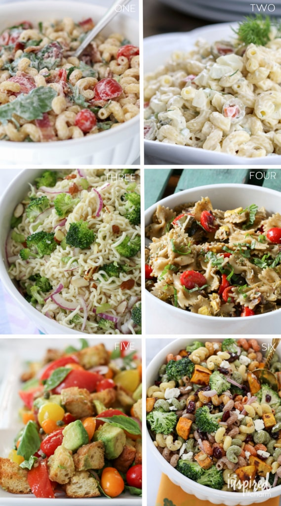 The Ultimate Collection of the Best Summer Salad Recipes - summer appetizer salad macaroni pasta recipes | Inspired by Charm
