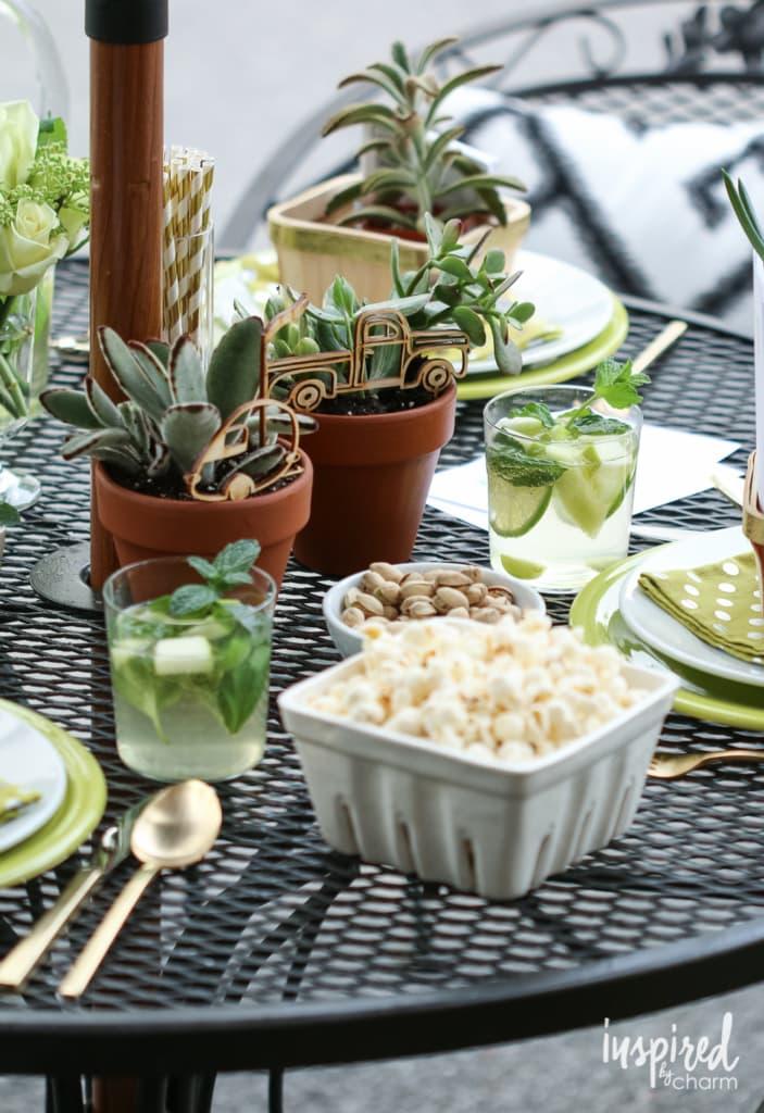 Dining Al Fresco | inspiredbycharm.com