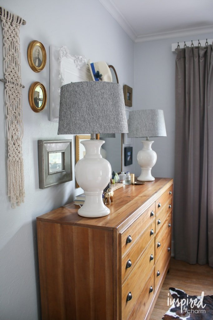 Decorating with Lamps | inspiredbycharm.com