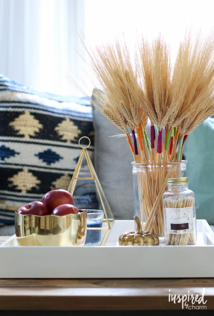 5 Tips for an Eclectic Fall Coffee Table | inspiredbycharm.com