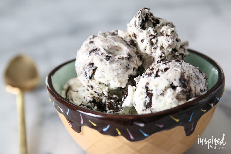 Two-Ingredient No Churn Ice Cream | inspiredbycharm.com