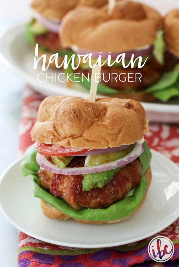 Hawaiian Chicken Burger | inspiredbycharm.com