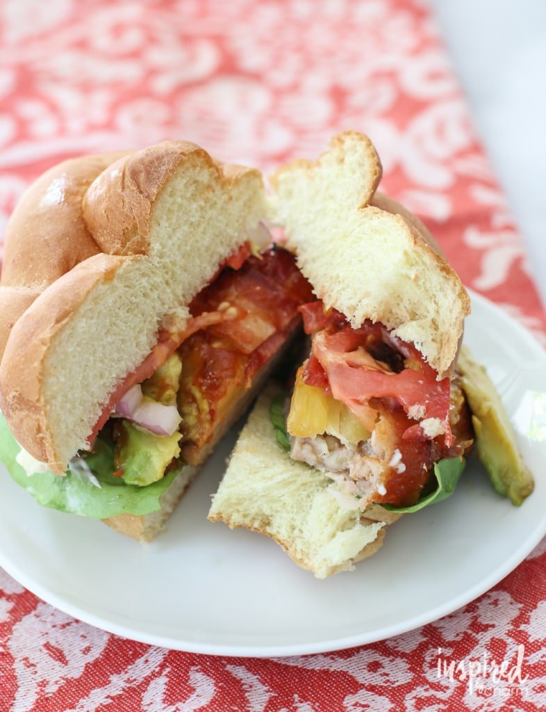 Hawaiian Chicken Burger | inspiredbycharm.com