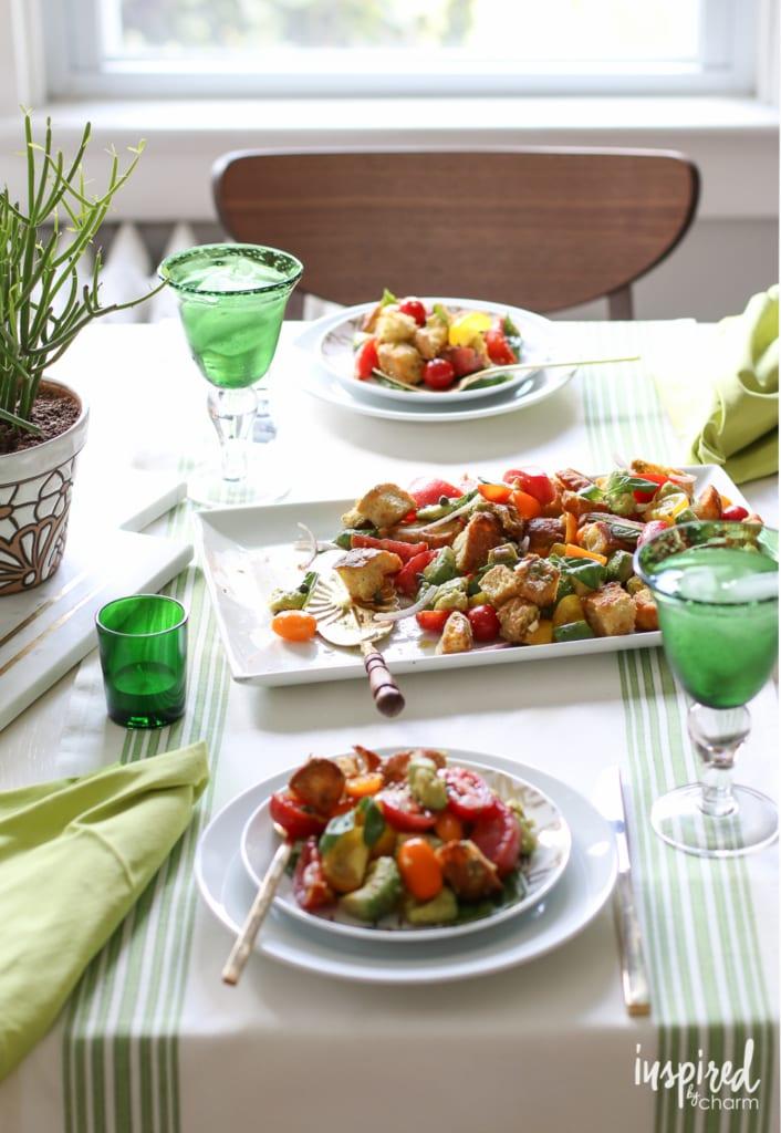 Avocado Panzanella | inspiredbycharm.com